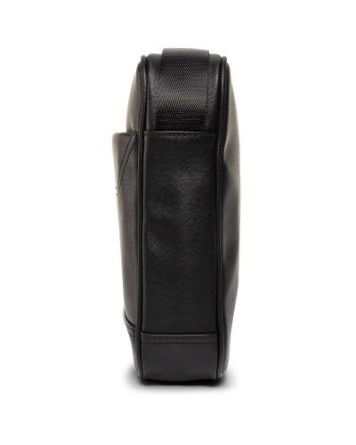 Borsa Trussardi Jeans uomo a tracolla stampa effetto saffiano. Business city reporter medium