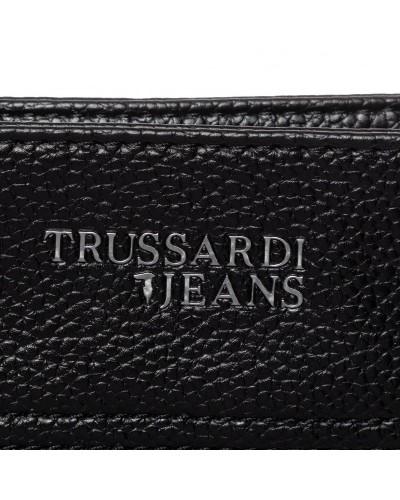 Borsa Trussardi Jeans uomo a tracolla in ecopelle effetto saffiano. Business city