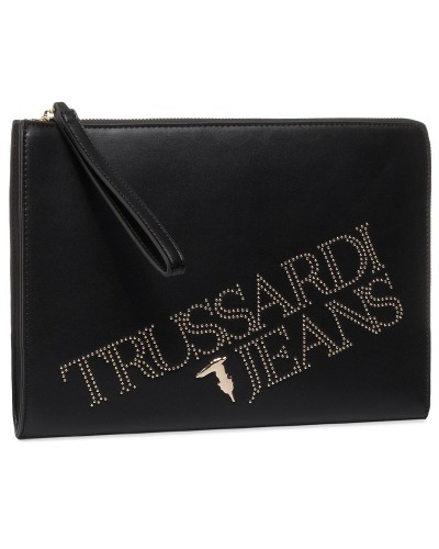 Clutch Trussardi Jeans donna in ecopelle con borchie dorate