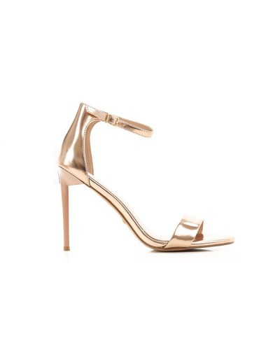 Sandalo Guess Marciano in vera pelle laminata rose gold