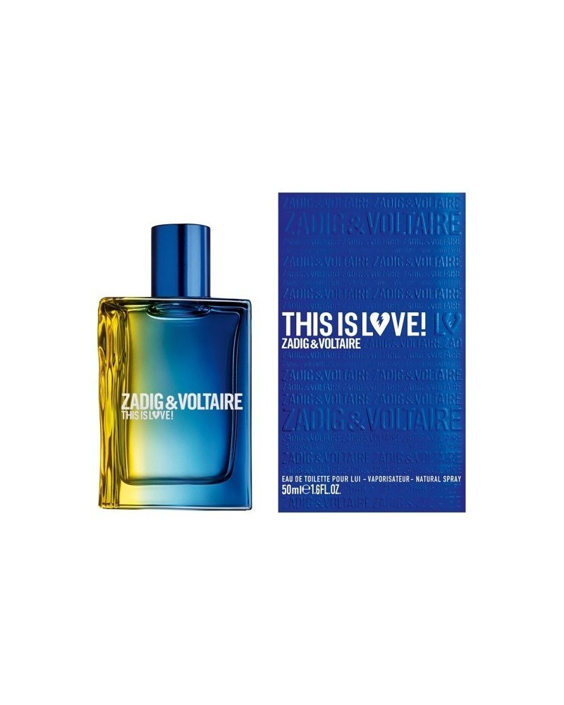 Profumo uomo Zadig&Voltaire This is love eau de toilette 50ml