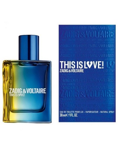 Profumo uomo Zadig&Voltaire This is love eau de toilette 30ml