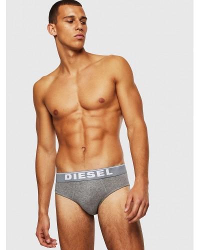 Slip Diesel basic cotton 3 Pack nero-bianco-grigio