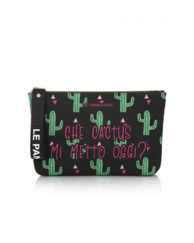 Pochette Le Pandorine Capri cactus Black