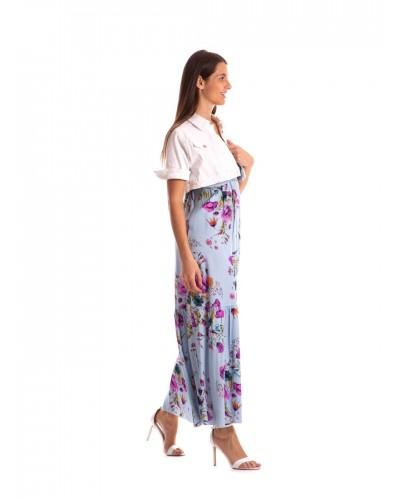 Giacca Mimì Muà donna in jeans corta con bottoni gioiello