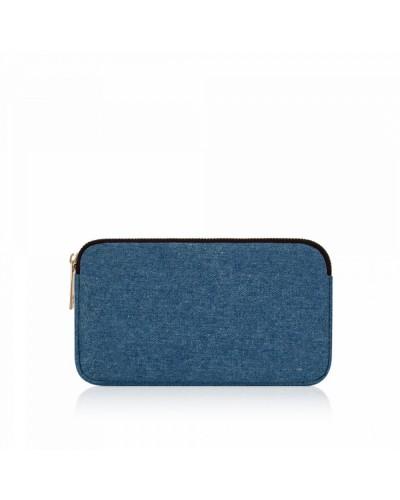 Numeroventidue Back Dragonfly Clutch Bag Denim Blue