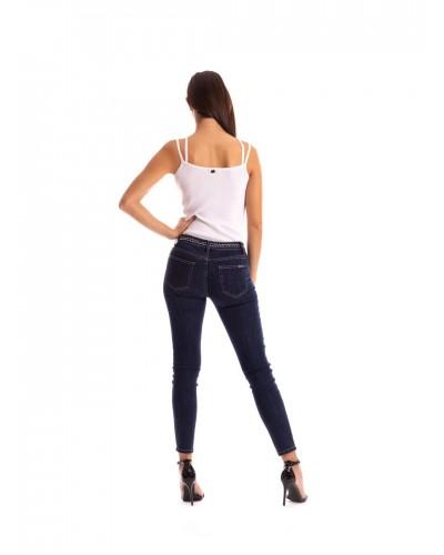 Jeans Mimì Muà donna skinny con borchie e catene