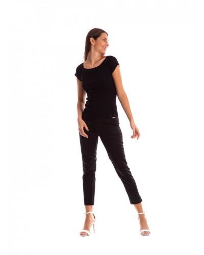 Pantalone Mimì Muà donna capri in cotone con cinturino