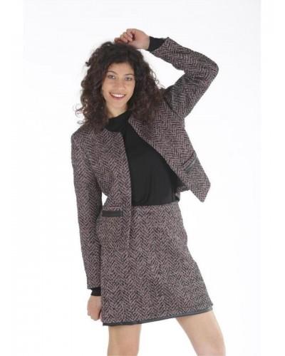 Giacca Mimi Muà donna tweed roso-nero
