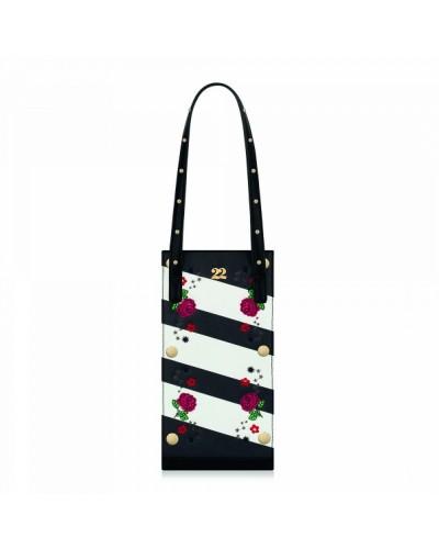 Numeroventidue Stripe Beetle Bag Rose Black