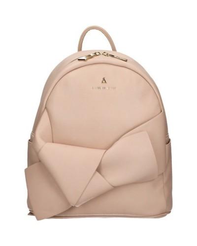 Zaino L'atelier du sac con fiocco sul davanti e pashmina in omaggio. Modello Camille rosa