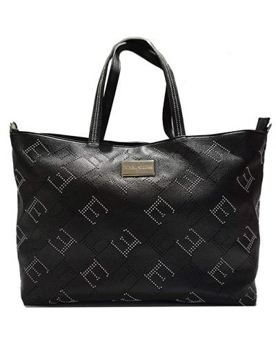 Borsa shopping Ermanno Scervino Grace nera con borchie argento