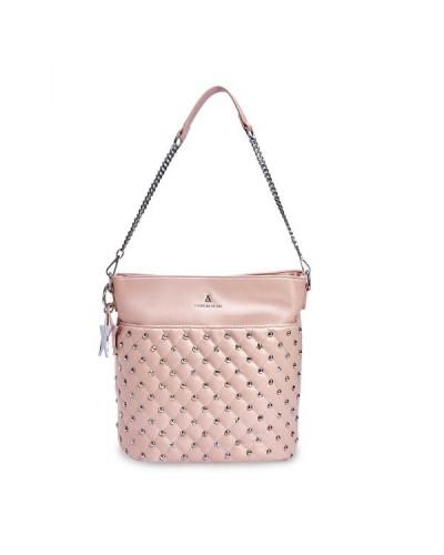 Borsa L'atelier du sac a tracolla con borchie e stelle sul davanti con pashmina in omaggio. Modello Emily