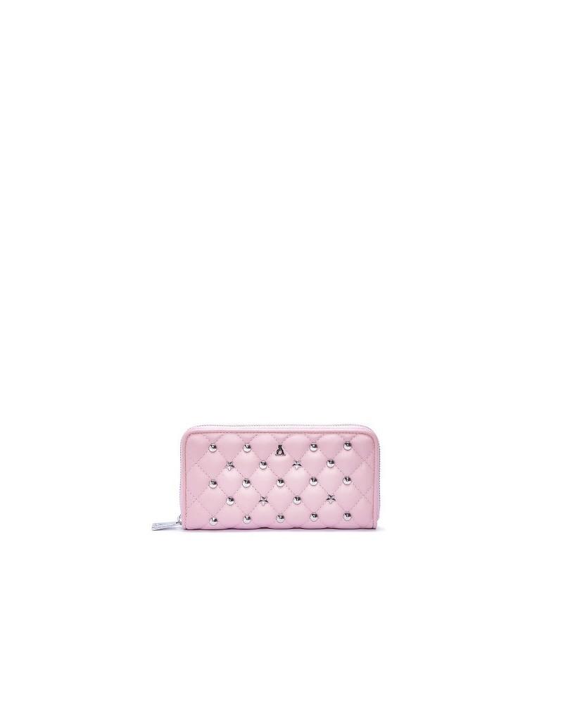 Portafoglio L'Atelier du sac modello brigitte con borchie e zip
