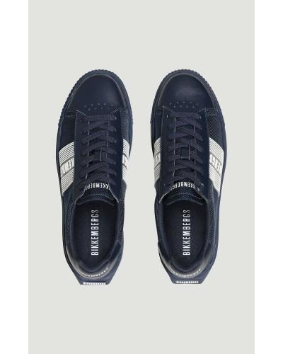 Sneakers Bikkembergs uomo in tela fondo a cassetta