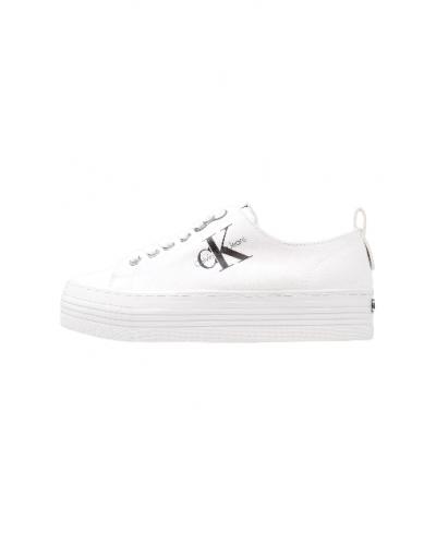 Sneakers Calvin Klein donna in tela fondo a cassetta co logo in rilievo