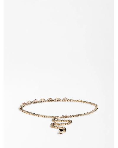 Cintura Guess Marciano donna in catena color oro