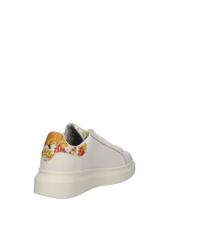Sneakers Ynot bassa bianca con stampa floreale