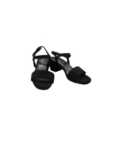 Sandalo Gattinoni clio donna nero con suola in pelle