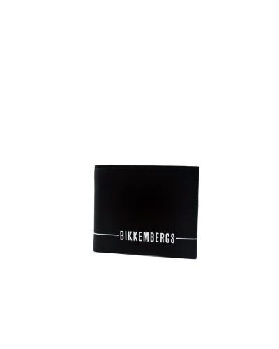 Portafoglio Bikkembergs uomo mini con portaspicci e marchio stampato sul fronte