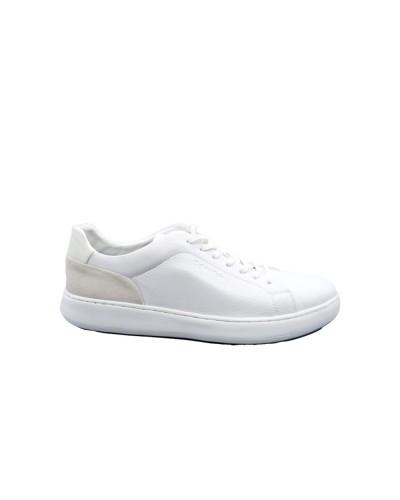 Sneakers Calvin Klain uomo bianca in pelle bassa