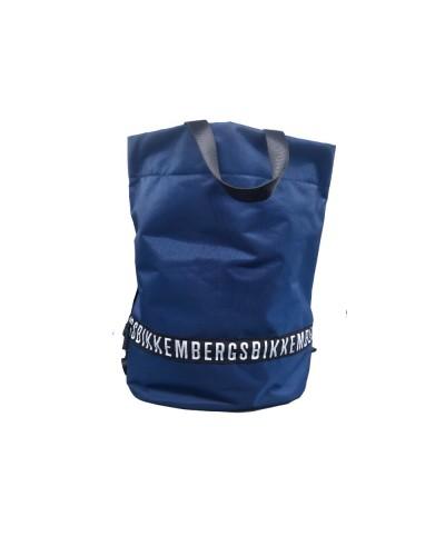 Zaino Sacca Bikkembergs con logo in evidenza in tessuto blu