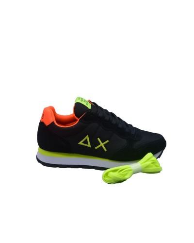 Scarpe Sneakers Sun68 uomo tom fluo nero