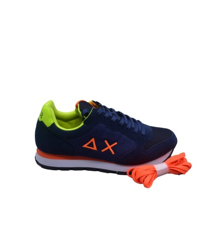Scarpe Sneakers Sun68 uomo tom fluo navy blue