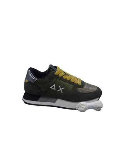 Scarpe Sneakers Sun68 donna kate animal velvet militare scuro