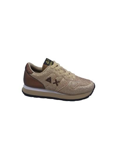 Scarpe Sneakers Sun68 donna ally solid glitter oro
