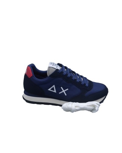 Scarpe Sneakers Sun68 uomo tom solid nylon blu grigio chiaro