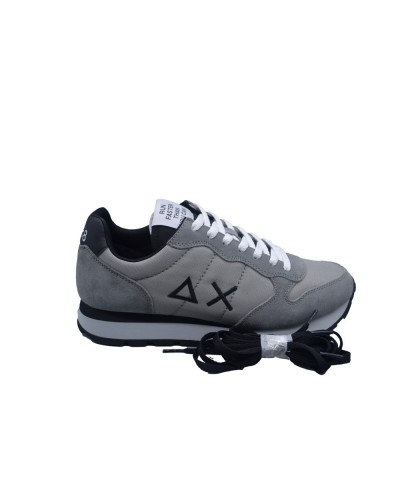Scarpe Sneakers Sun68 uomo tom solid nylon grigio chiaro nero