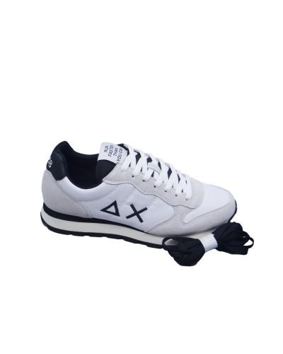 Scarpe Sneakers Sun68 uomo tom solid nylon bianco nero