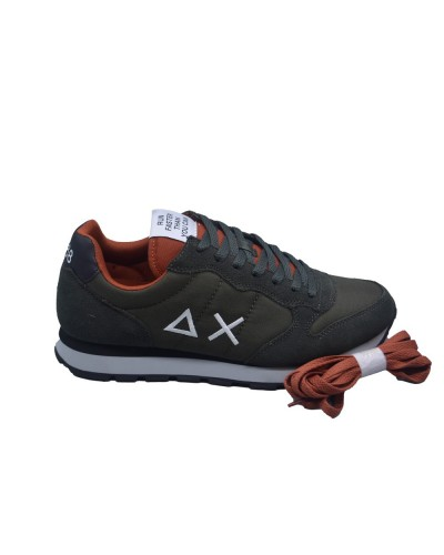 Scarpe Sneakers Sun68 uomo tom solid nylon verde mil. scuro