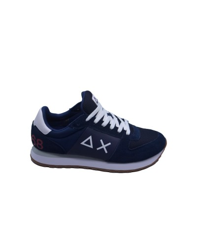 Scarpe Sneakers Sun68 uomo tom side band sport navy blue