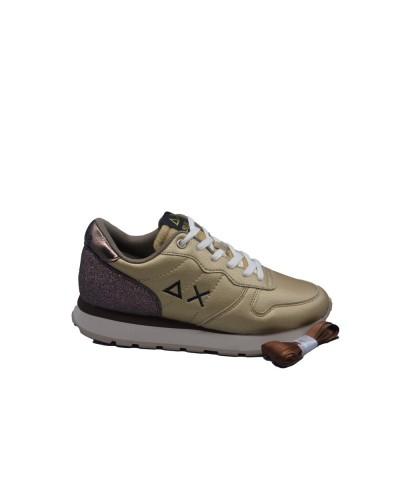 Scarpe Sneakers Sun68 donna ally back glitter oro