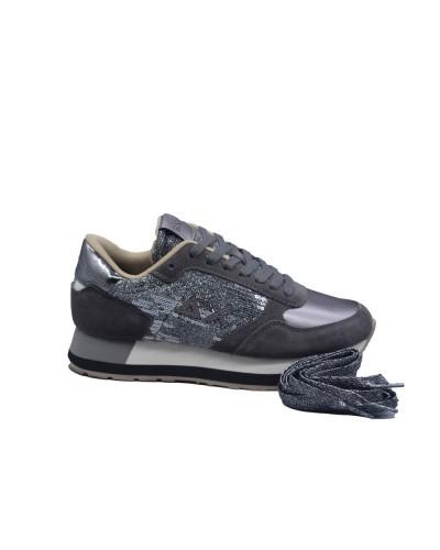 Scarpe Sneakers Sun68 donna kate velvet paillettes grigio scuro