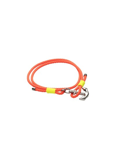 YES I AM bracciale arancio e giallo fluo