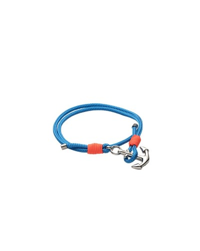 YES I AM bracciale corda  blu