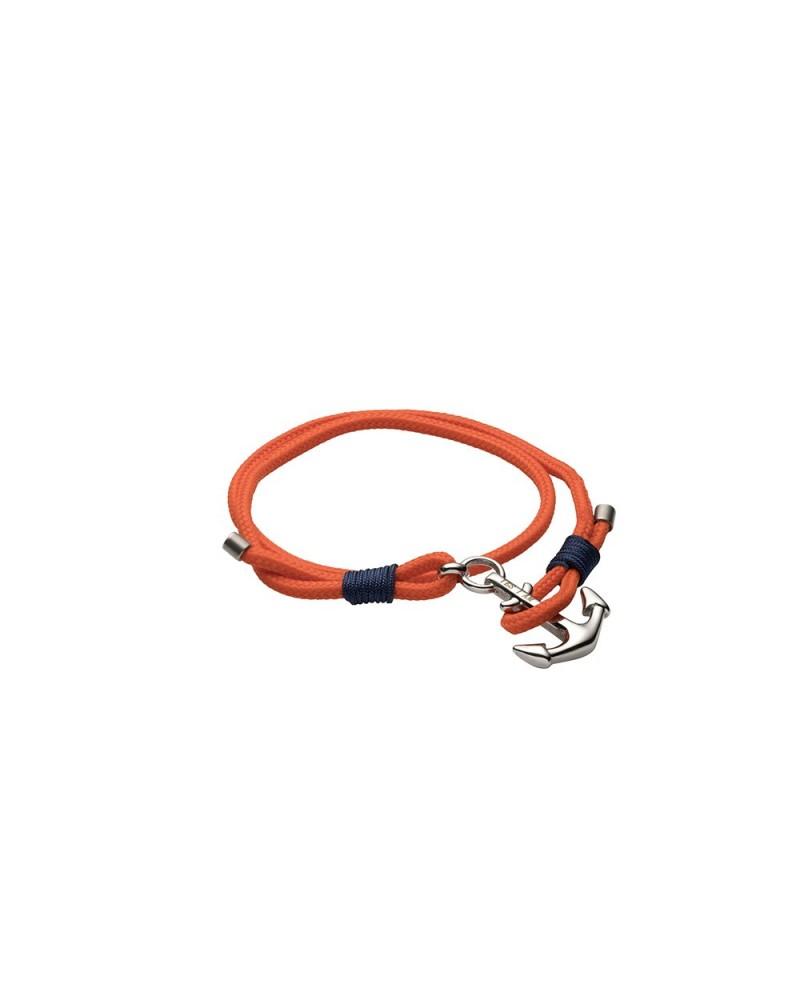 YES I AM bracciale corda arancione