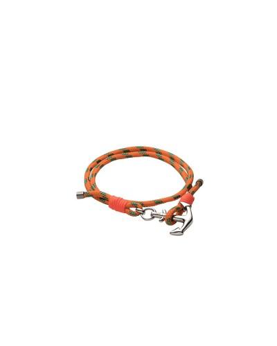 YES I AM bracciale corda arancione e verde