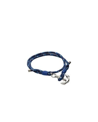 YES I AM bracciale corda blu e bianco