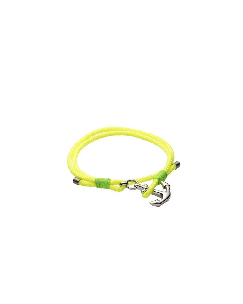 YES I AM bracciale corda giallo fluo