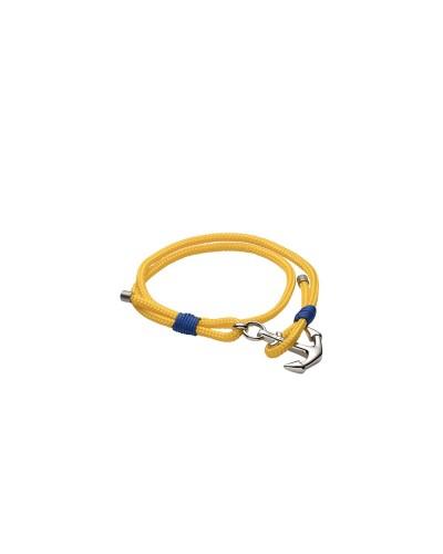 YES I AM bracciale giallo e blu con ancora
