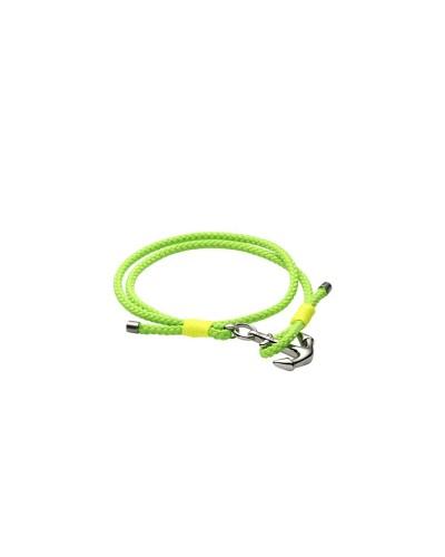 YES I AM bracciale verde e giallo fluo con ancora
