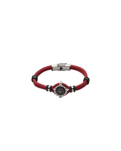 YES I AM bracciale rosso con bussola