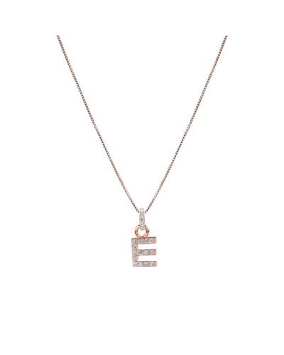 FEELINGS collana rosata con iniziale E