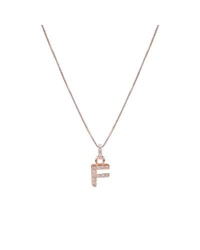 FEELINGS collana rosata con iniziale F