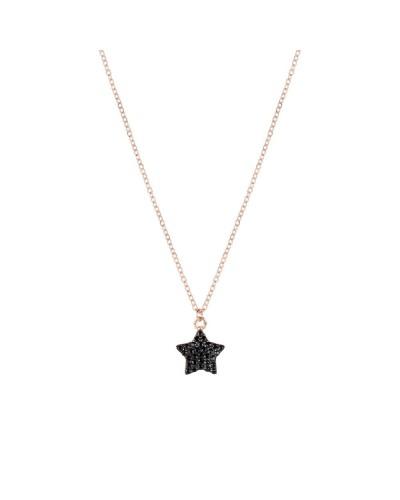 FEELINGS collana rosata con stella nera