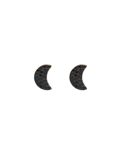 FEELINGS orecchini mezza luna nera